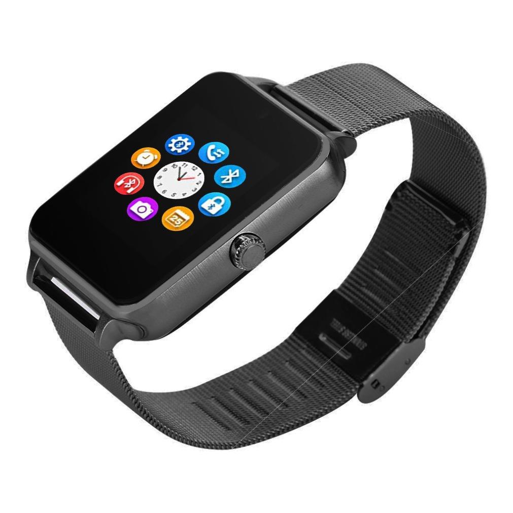 libison Bluetoothスマートウォッチ、スポーツFitness Trackerハートレートモニター血圧モニター、歩数計Sedentary Remindスリープ監視リモートカメラ  ブラック B07F113R61