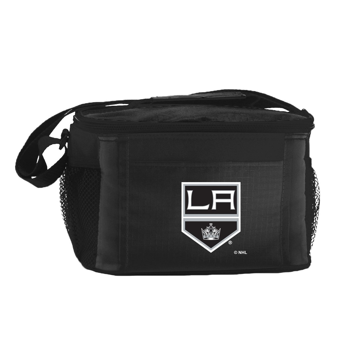 NHL Los Angeles Kings Insulated Lunch Cooler Bag with Zipper Closure, Black