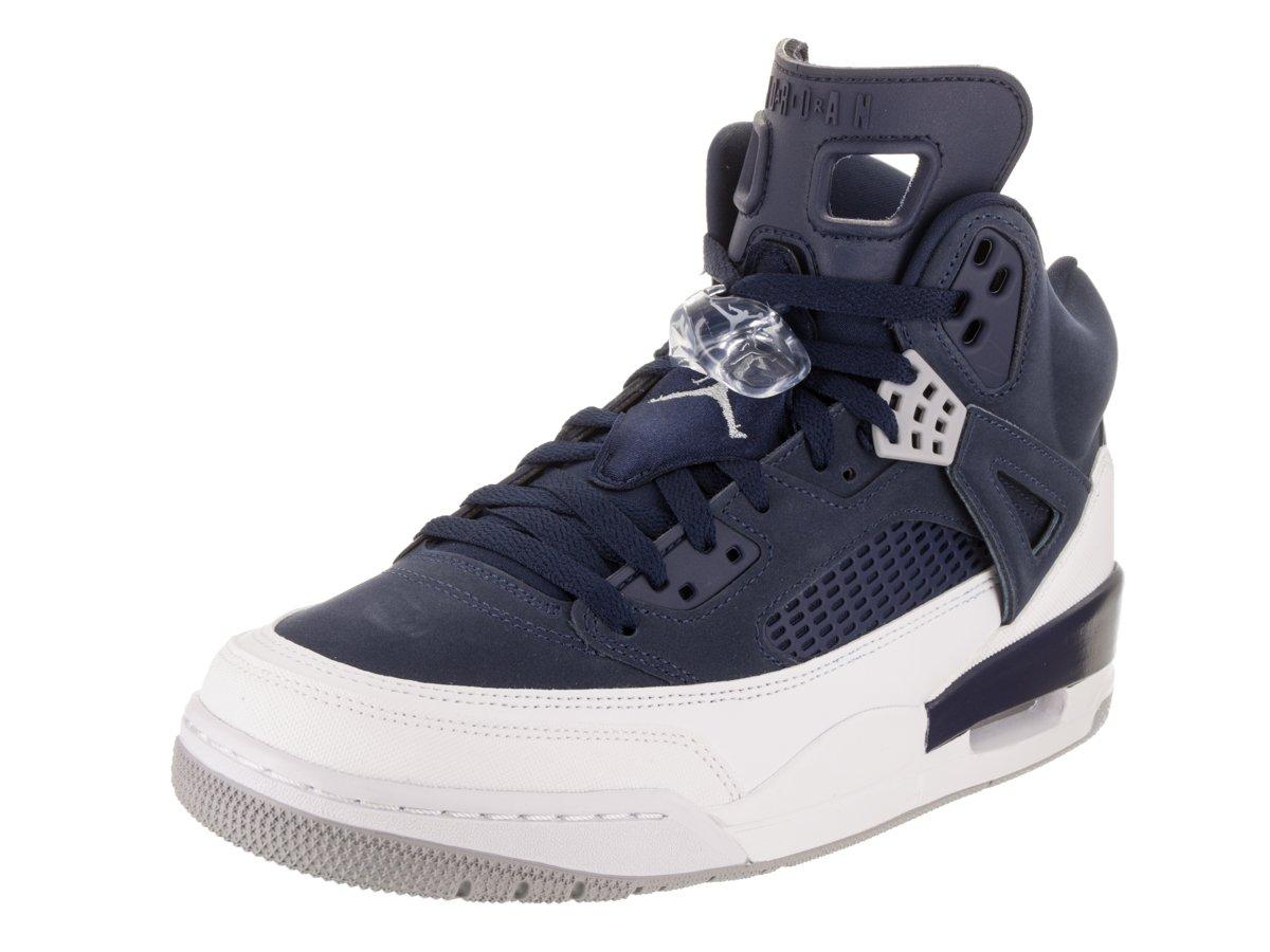 Jordan Nike Men's Spizike Midnight Navy/Metallic Silver Basketball Shoe 9.5 Men US