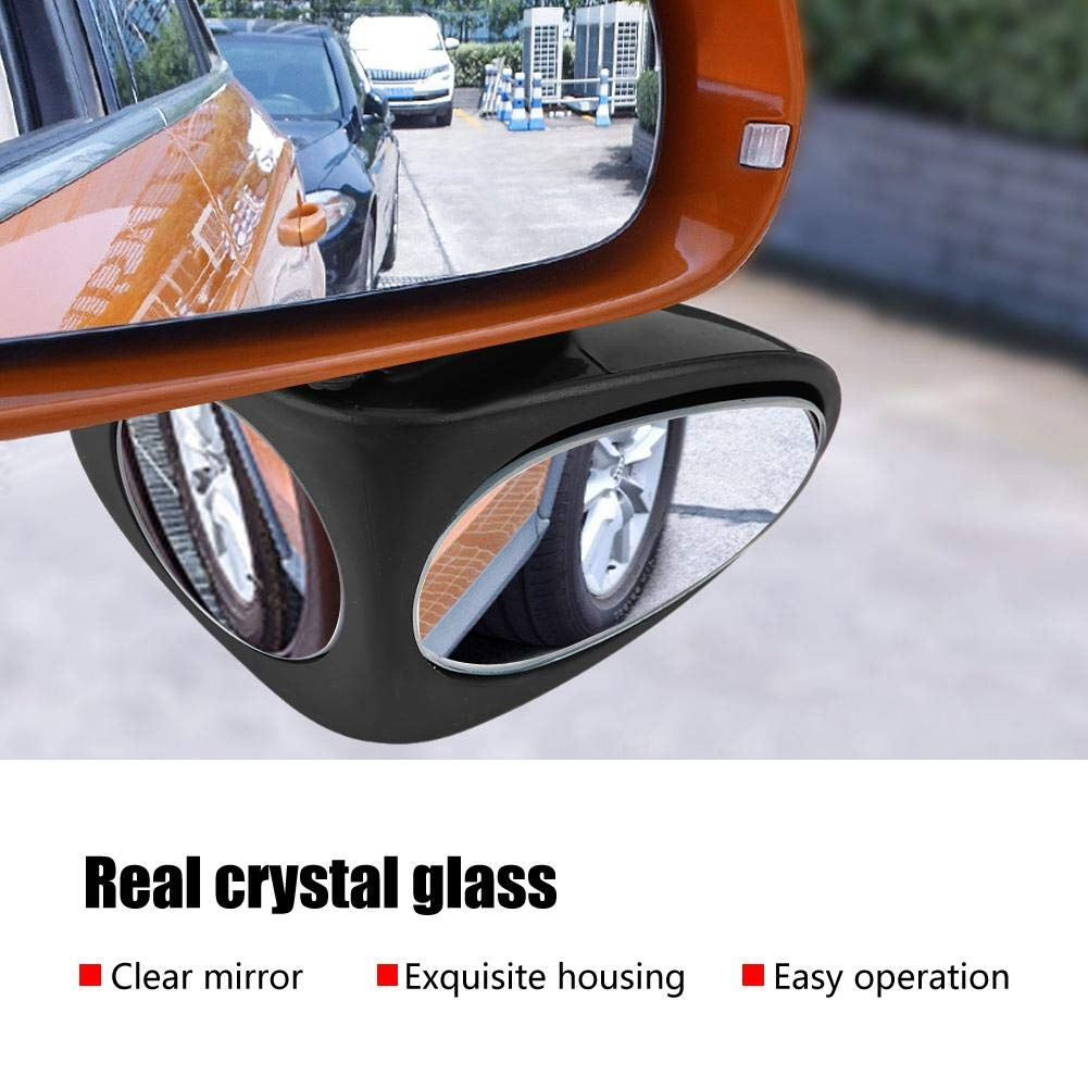 Right KIMISS ABS Wide Angle Adjustable Car Blind Spot Mirror Rearview Spot Mirror