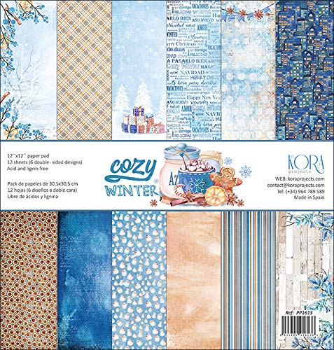 Pack de 12 Papeles (12x12) - Cozy Winter KORA projects
