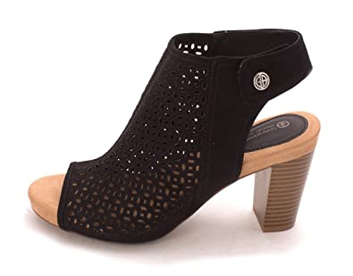 Giani Bernini Womens Joiseyyf Open Toe SlingBack Mules Black Size 7.5
