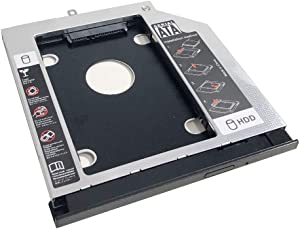 NIGUDEYANG 2nd HDD SSD Hard Drive Optical Frame Caddy Adapter for Lenovo Thinkpad L560 L570 only with Bezel Front Panel Faceplate Metal Bracket Holder