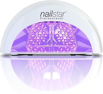 Nailstar Lámpara Led Profesional Seca Esmalte De Uñas Para Manicura Shellac Y Gel Con Temporizador De 30 Seg 60 Seg 90 Seg Y 30 Min Blanco