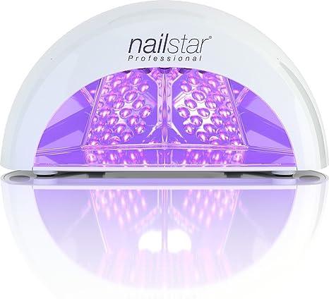 NailStar™ Lampada a LED Professionale Asciuga Smalto per Unghie, per Manicure Shellac e con Smalto Gel, con Timer da 30sec, 60sec, 90sec e 30min (Bianco)