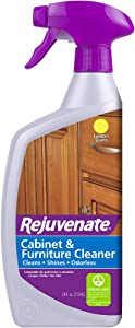 Rejuvenate Cabinet and Furniture pH Neutral Streak and Residue Free Cleaner Cleans Restores Protects