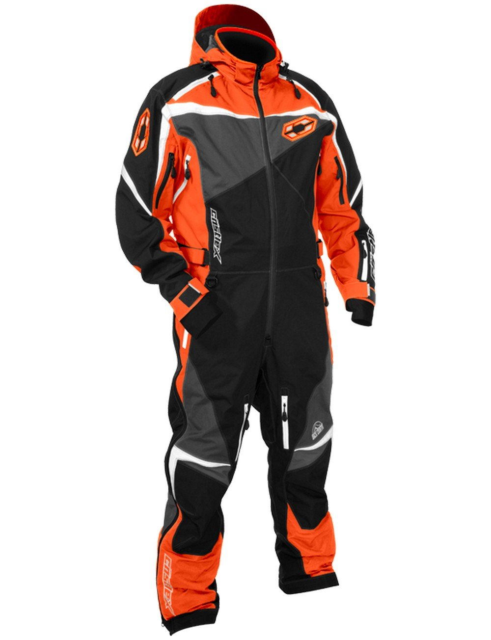 Castle X Freedom Monosuit Mens Snowmobile Suit Orange MD
