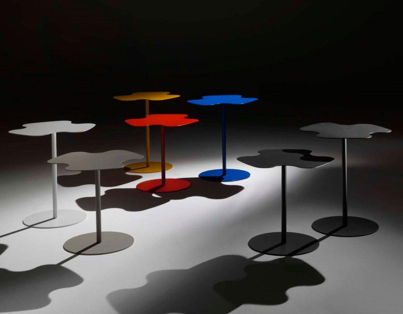 Lookboard 173021 S-M316 Flower Power Side Table, Blue