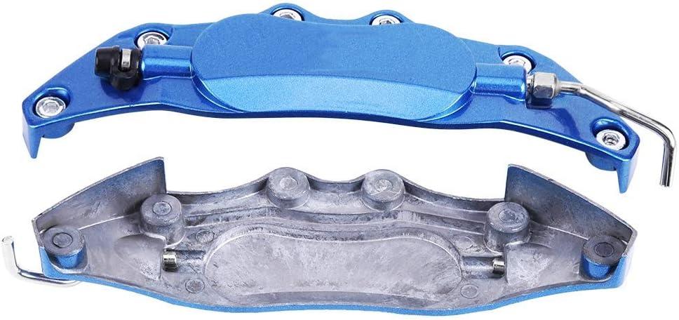 2 st/ücke Auto Aluminium Endlos Bremssattel Schutzabdeckung f/ür Radnabe 14in-15in Small Blue Bremssattel Abdeckung