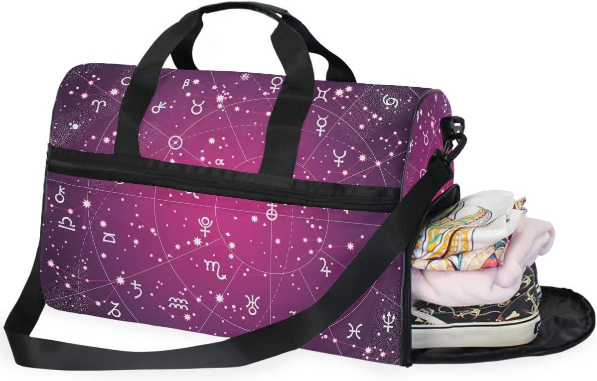 AHOMY Travel Duffel Bag XII Constellations Zodiac Planet Sports Gym Luggage Bags