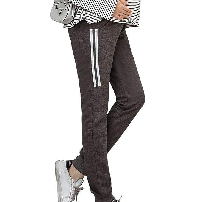 c6592e490 Wetry Pantalones Premama Leggings Banda pará Barriga Leggins Embarazada  Deporte Maternidad Elasticos Cómodo Algodon Tallas Grandes Cintura Alta   Amazon.es  ...