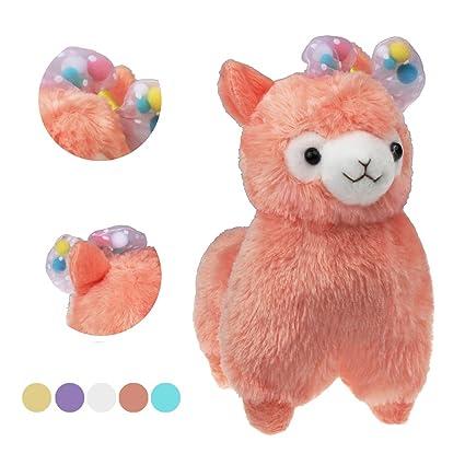 Amazon Com Alpacasso 6 7 Bowknot Plush Alpaca Cute Stuffed Animal