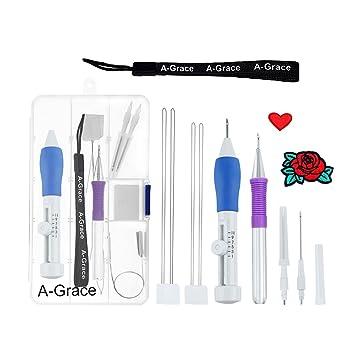 Fellibay Stickerei Pen Kit Nähte Punch Nadeln Set Craft Tools mit ...