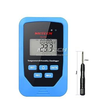 nktech Digital termómetro temperatura humedad probador 6 en 1 nk-th3 Mini grabadora tiempo pantalla
