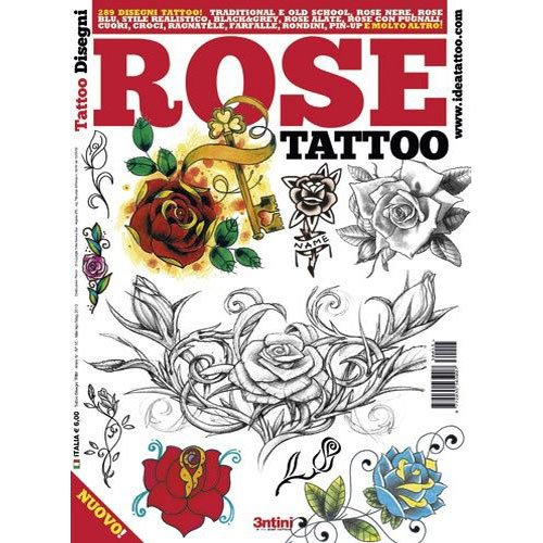 Rose Tattoo Illustration/Tattoo Flash Book Books/Tattoo Flash Art from 3tini