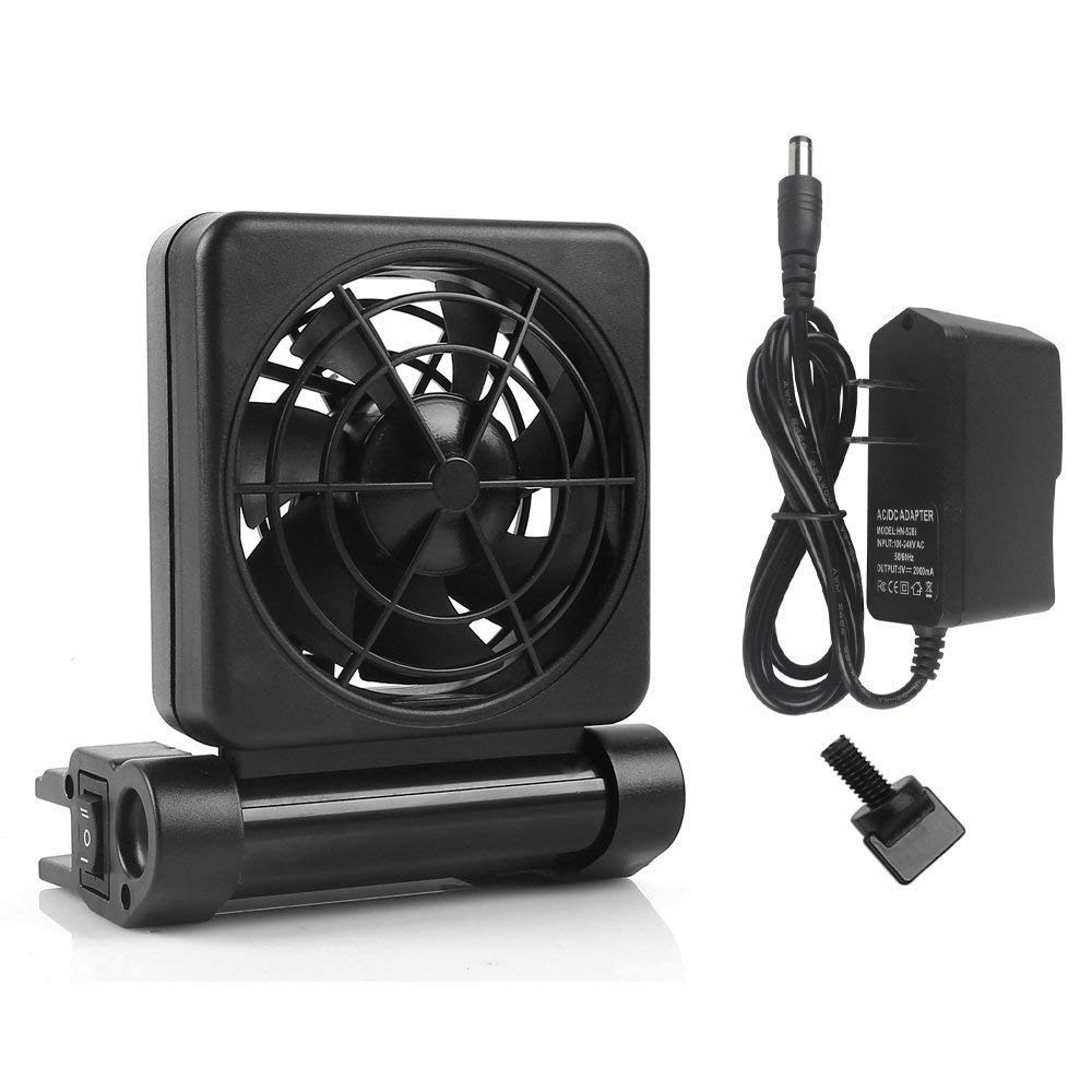 YueYueZou Aquarium Chillers Cooling Fan, ColdWind Cooling System for Salt/Fresh Water