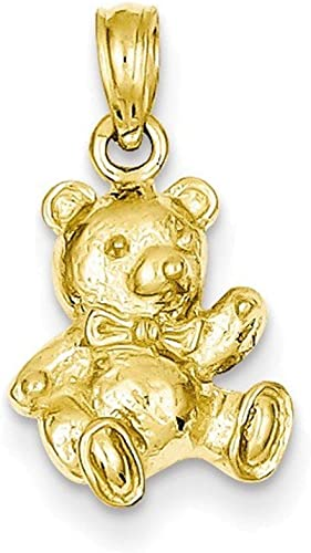 Mia Diamonds 14k Yellow Gold Y Casted Large Polished Number 6 Charm 25mm x 10mm