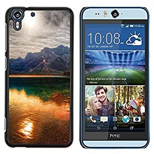 "For HTC Desire Eye ( M910x ) , S-type Sunset Beautiful Nature 41"" - Arte & diseño plástico duro Fundas Cover Cubre Hard Case Cover"