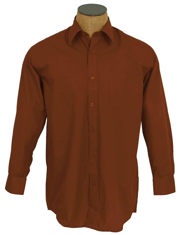 Sunrise Outlet Men's Solid Color Cotton Blend Dress Shirt NTP-DS3001