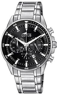 Lotus Reloj Cronógrafo para Hombre de Cuarzo con Correa en Acero Inoxidable 10133/4