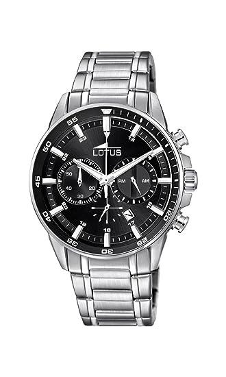 Lotus Reloj Cronógrafo para Hombre de Cuarzo con Correa en Acero Inoxidable 10133/4: Amazon.es: Relojes