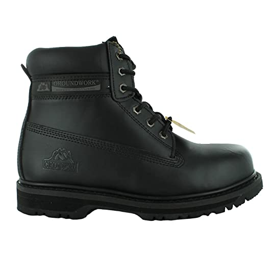45f9f9aab69 Mens Groundwork Safety Steel Toe Cap Durable Combat Lace up Work Wear Boots  Shoes