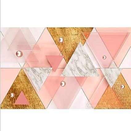Fond D Ecran 3d Triangle Rose Mur Fond Mur Geometrique Mur Revetement Impermeable Autocollants Amazon Fr Cuisine Maison
