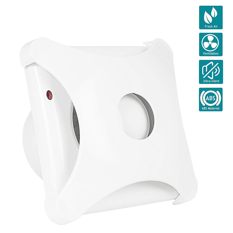 4 Zoll Abluftventilator Ultra-leise mit Effiziente Bel/üftung HG Power Inline-L/üfter Wand-Ventilator f/ür K/üche//Badezimmer//Schlafzimmer//B/üro A - Mehrweg
