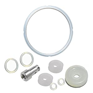 T&B 5 or 6 Quart Pressure Cooker Silicone Sealing Ring Rubber Gasket Set Universal Replacement Floater and Sealer For Power Pressure Cookers Set of 9