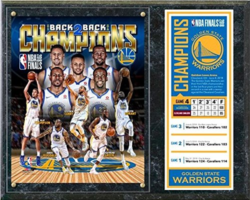 Golden State Warriors 2018 NBA Finals Champions Photo Plaque (Size: 12