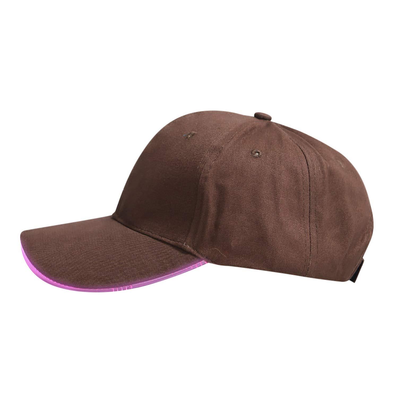 Feitong Baseball Cap Men Hats for Women Casual Hat Glow Club Party Baseball Hip-Hop Adjustable Sports Cap