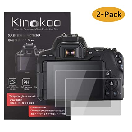 kinokoo Película de Vidrio Templado para Canon EOS 200D/Rebel SL2 ...