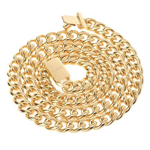Stainless Steel 9mm Herringbone Bracelet (Gold Plated) - 2