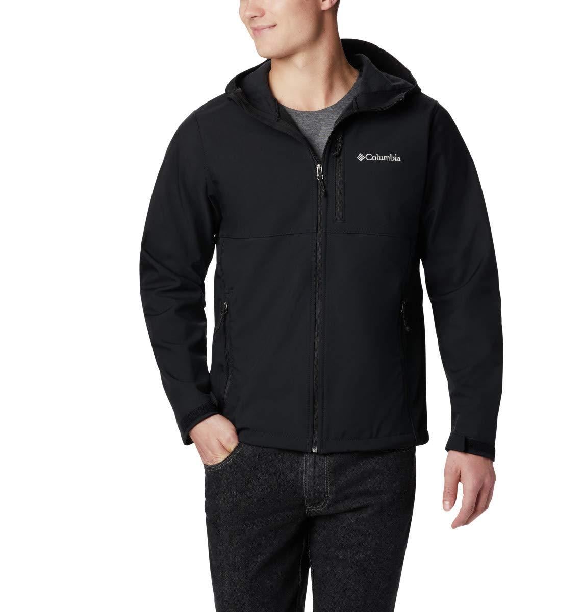 Columbia Men's Ascender Hooded Softshell Jacket, Black, Medium by Columbia