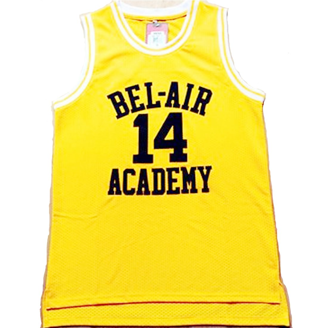 87157d0134ab Amazon.com   Fresh Prince Jersey 14 Will Smith Jersey Yellow Bel-Air  Academy Basketball Jerseys Stitched (Golden