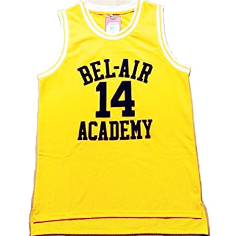 Amazon.com   Fresh Prince Jersey 14 Will Smith Jersey Yellow Bel-Air ... c06a40a16c1b