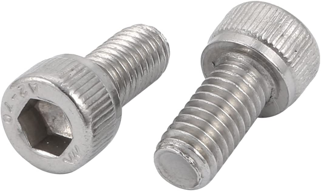 Pack of 10 #2-56 UNC Threads Fully Threaded 3//8 Length Small Parts 3//8 Length 18-8 Stainless Steel Socket Cap Screw Vented Internal Hex Drive Plain Finish