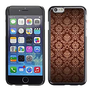 TECHCASE**Cubierta de la caja de protección la piel dura para el ** Apple iPhone 6 ** Wallpaper Brown Bling Royal Vintage
