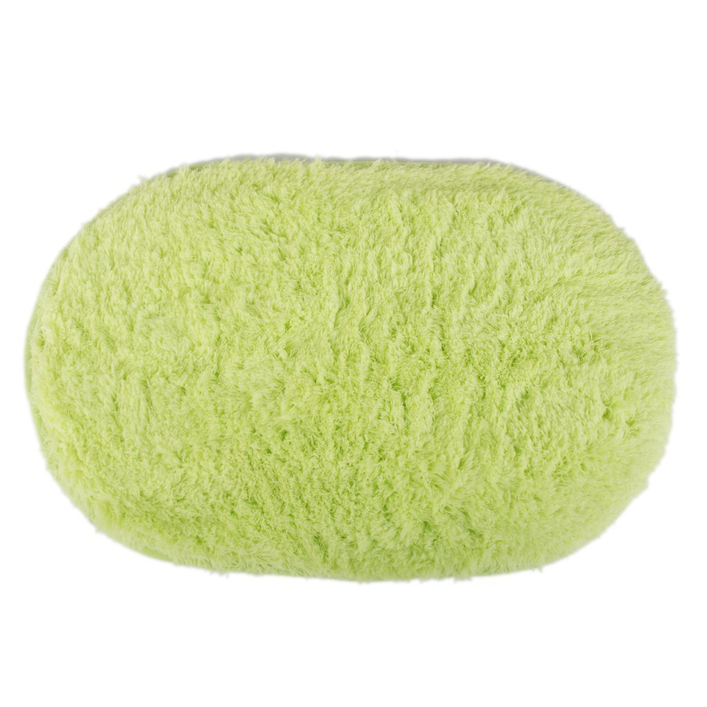 Polymer Absorption Bath Mat Soft Floor Rug Bedroom Cozy Shaggy Rug Oval Living Room Carpet (Green)