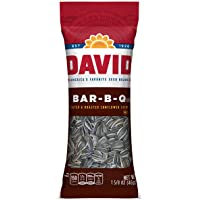 DAVID Roasted and Salted Bar-B-Q Sunflower Seeds, Keto Friendly, 1.625 oz, 12 Pack