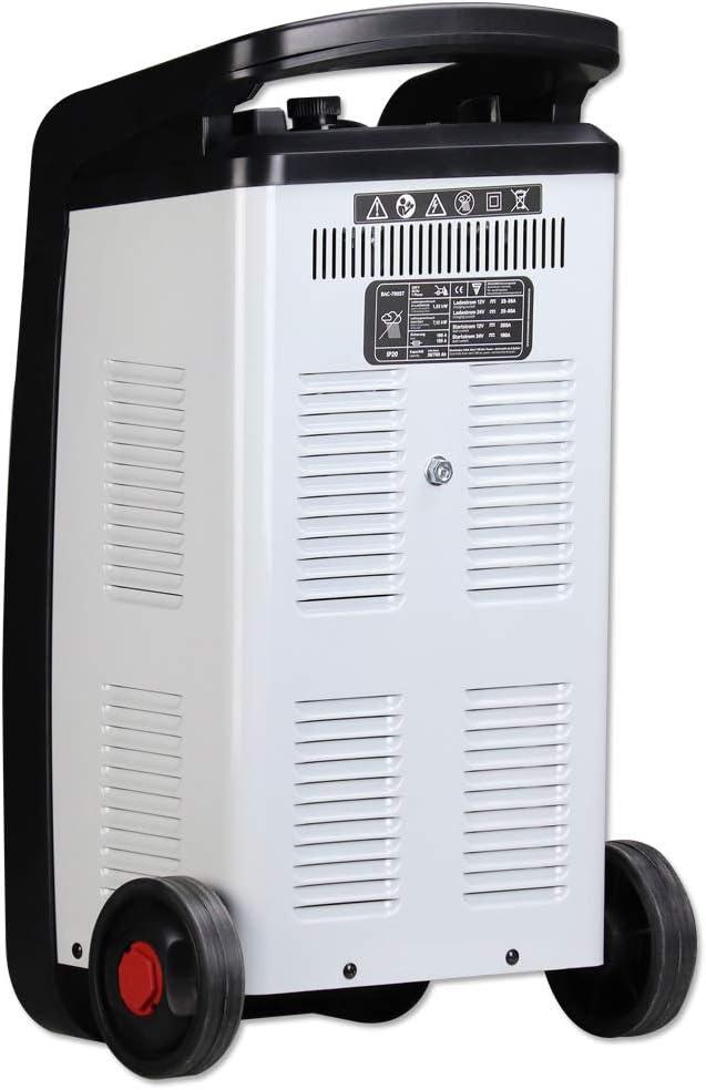 hasta 90 A de Corriente de Carga hasta 1000 Ah de Capacidad de bater/ía Temporizador STAHLWERK Cargador de bater/ía para Coche BAC-1000 ST 12//24 V Booster funci/ón de Arranque