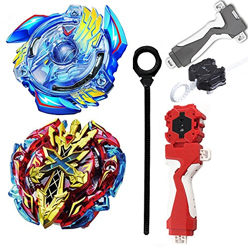 STORM GYRO 4D Spinning Top Game Toy Bey battling blade Burst B-34 Starter victory valkyrie.b.v + XENO XCALIBUR .M.I B-48 with Launcher Stater set metal fusion Battle Top