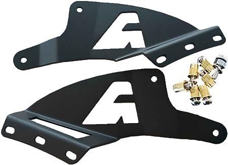 2PCS Off-road Roof LED Light Strip Bracket Car Upper Bar Steel Mounting Bracket