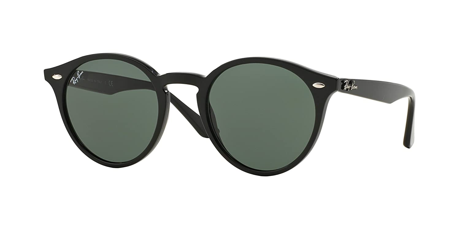 b51bac3127b Amazon.com  Ray Ban RB2180 601 71 49M Black Grey Green Sunglasses For Men  For Women  Clothing