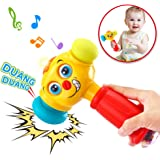 VATOS Baby Toys Boy Toys Light& Musical Baby Hammer Toy for 12 to 18 Months up | Infant Toys Funny Changeable Eyes Baby Hamme