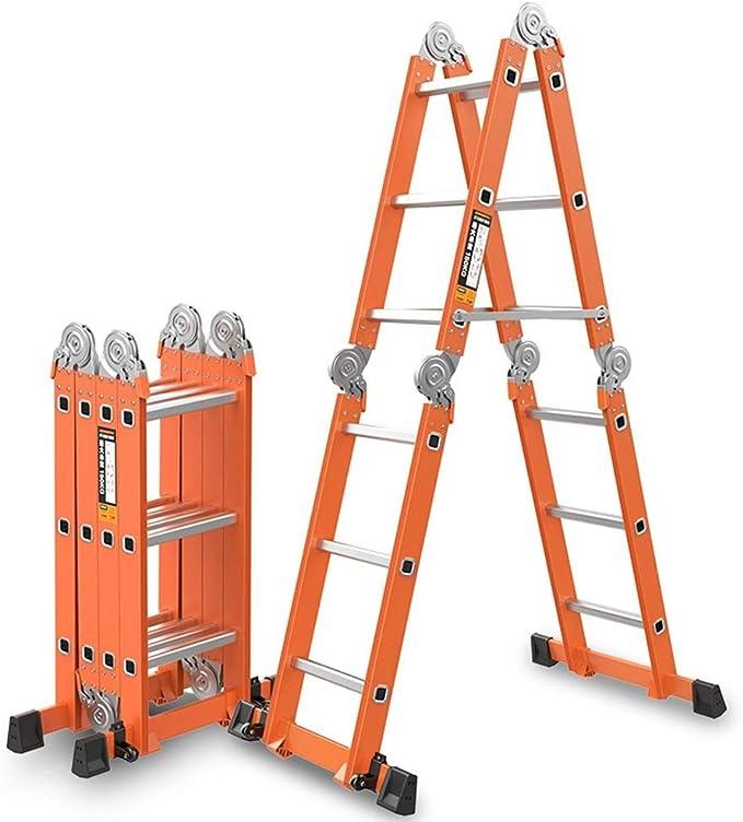 Taburete Plegable Escalera plegable Escalera plegable multifunción Escalera de aleación de aluminio Escalera Escalera Escalera doméstica Escalera telescópica Escalera recta elevadora Escalera Escalera: Amazon.es: Bricolaje y herramientas