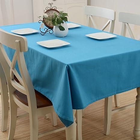 LU Süßigkeit-Farben-Baumwollhaushalt-Stab-Tischdecke-Staub-Persenning-Tuch-rechteckige Tischdecke ( farbe : Blau , größe : 60