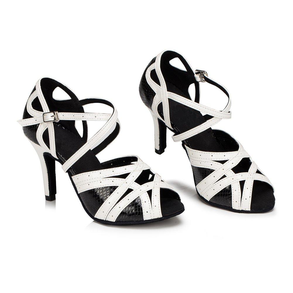 Yiteli Womens Latin Ballroom Dance Shoes Salsa Tango Open-Toe Sandals US5.5-9
