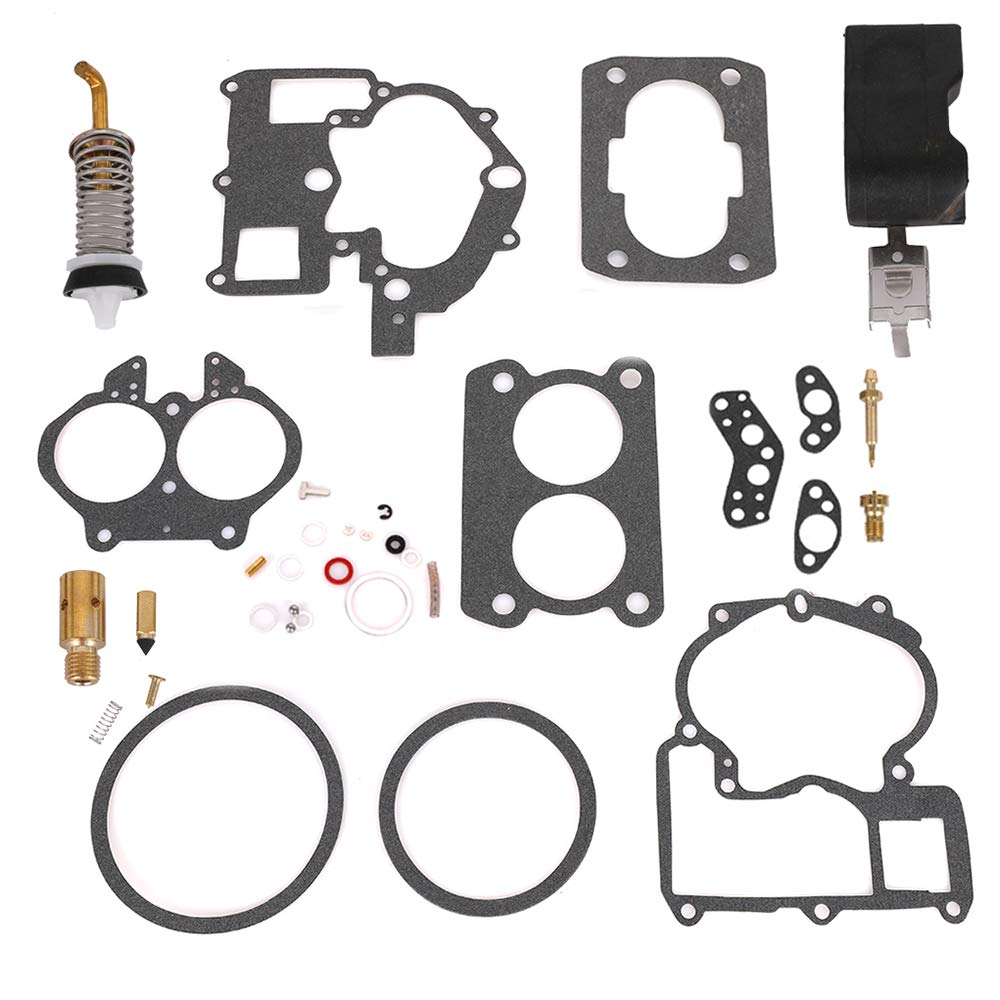 New Carburetor Repair Kit w/FLOAT 18-7098-1 for Mercarb Mercruiser Marine 2 Barrel Rochester 3302-804844002 1389-9562A1 1389-9563A1 1389-9564A1 1389-9670A2 1389-806077A2 1389-806078A2