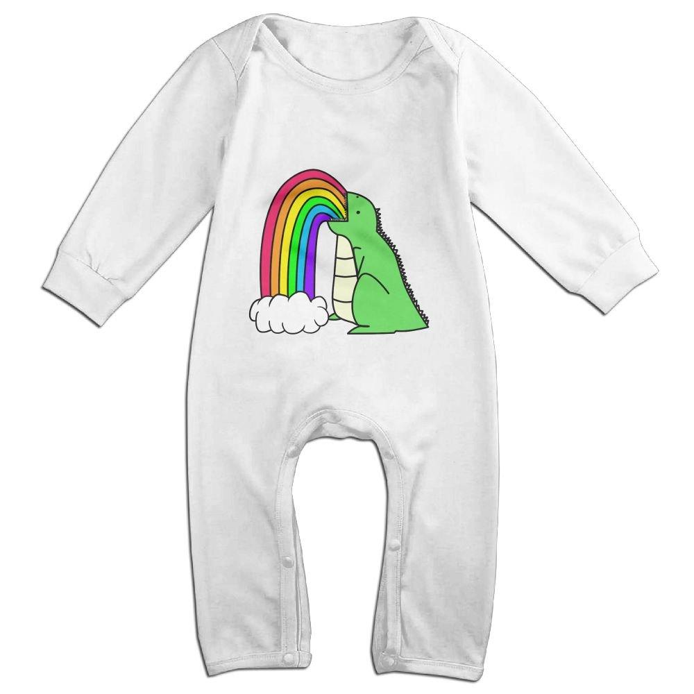 Efbj Baby Rompers Dinosaur Rainbow Coverall Romper Unisex Bodysuit Clothes Jumpsuit Pajamas
